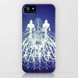 Chandelier | Black and White Photography | Romantic, Sparkly, Dreamy Light iPhone Case