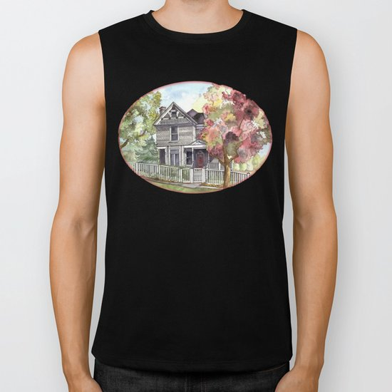Springtime in the Country Biker Tank
