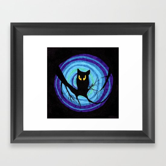 time for child stories: the EVIL OWL Framed Art Print