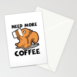 Need More Coffee Caffeine Junkie Gift Stationery Cards