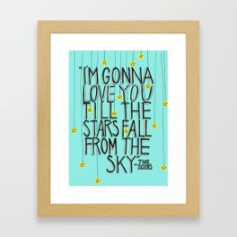 Till The Stars Fall Framed Art Print