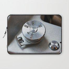 Control dial shutter speed on retro SLR camera Laptop Sleeve