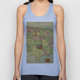 Map of Indian Reservations 1902 Unisex Tank Top