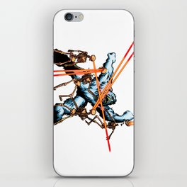 Yeti vs. Laser Skeletons iPhone Skin