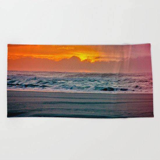 Ocean Sunset - Pacific Coast Highway 101 Beach Towel