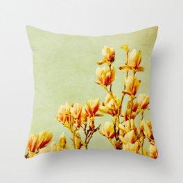 wednesday's magnolias Throw Pillow