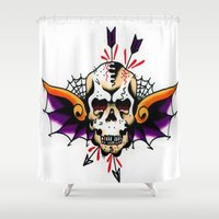 tatoo Shower Curtains featuring Tatoo ART 7 by The Greedy Fox