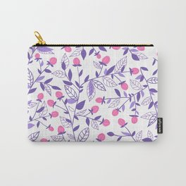 Floral doodles pink and violet Carry-All Pouch