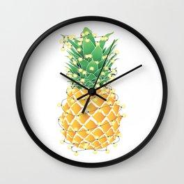 Christmas Pineapple Tree Wall Clock