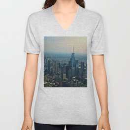 Mornings in Manhattan Unisex V-Neck