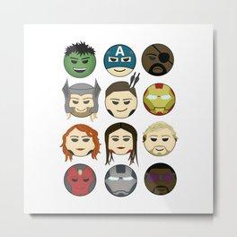 Avenger Emojis :) Metal Print