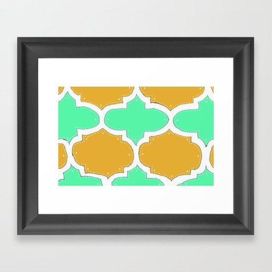 Morocco Orange & Teal Framed Art Print