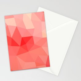 Shades of Coral Low Poly Design Stationery Cards