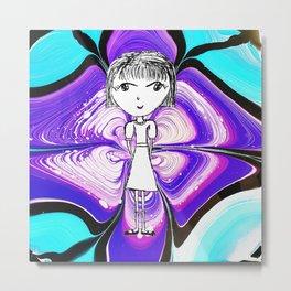 Aria Girl paiting by Elisavet Metal Print