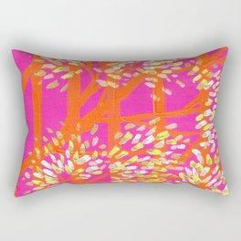Blush Orange Trees Rectangular Pillow