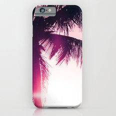pink palm tree silhouettes kihei tropical nights iPhone 6s Slim Case