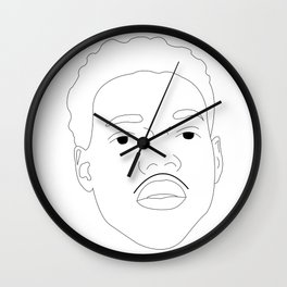 Chance the Rapper Line Drawing Wall Clock