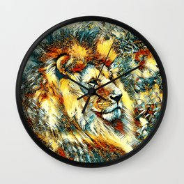 AnimalArt_Lion_20171001_by_JAMColorsSpecial Wall Clock