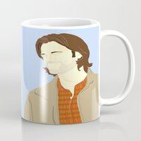 sam winchester Mugs featuring Sam Winchester by thefluidlines