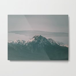 Landscape Italian Snow Mountain Photography Metal Print