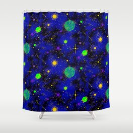 Wrinkle Planet Pattern Shower Curtain
