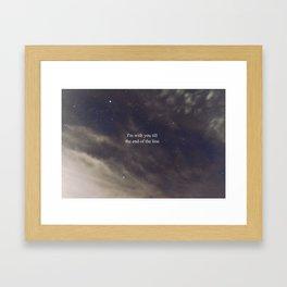 Till the End of the Line Framed Art Print