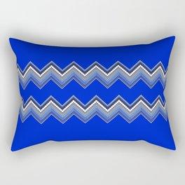 ZZIG A ZIGG AHH - Zig Zag, Blue, Fun, Bright, Repeat, Nursery Rectangular Pillow