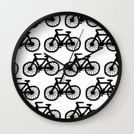Bicycle Doodle Wall Clock