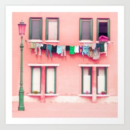 Laundry Venice Italy Travel Photography Art Print