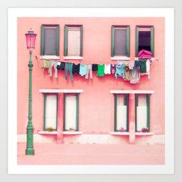 Laundry Venice Italy Travel Photography Kunstdrucke