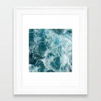 sea Framed Art Prints featuring Sea by Vickn