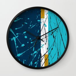 Turquoise dreams Wall Clock