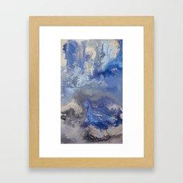 Blue Rivers Framed Art Print