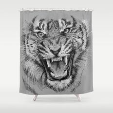Tiger Portrait Animal Design Shower Curtain