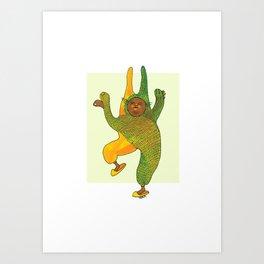 dancing rabbit Art Print