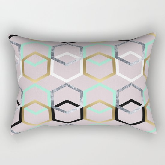 Textures and Interceptions Rectangular Pillow