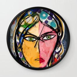 Portrait of a mystique girl Wall Clock