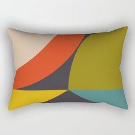 mid century bauhaus geometry large 2 Rectangular Pillow