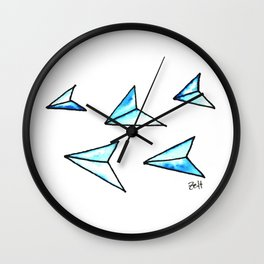 Paperplanes Wall Clock