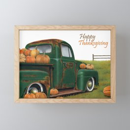 Pumpkin Spice- Happy Thanksgiving Framed Mini Art Print