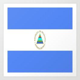 flag of nicaragua - Nicaraguans,Nicaragüense,Managua,Matagalpa,latine. Art Print