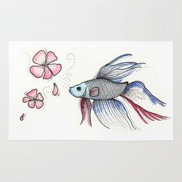 Japanese Fighting Fish Rug