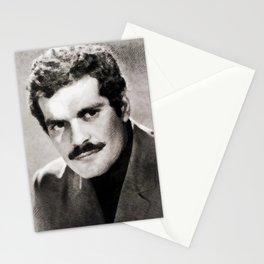 Omar Sharif, Vintage Actor Stationery Cards