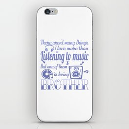 Listening to Music Brother iPhone Skin