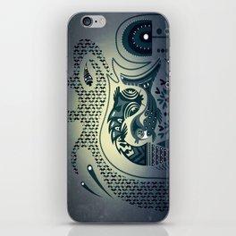 Midnight swirls iPhone Skin