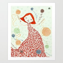 weaving dreams Art Print