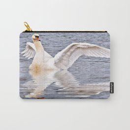 Flapping Swan Carry-All Pouch