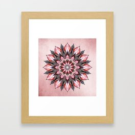 Passion Mandala Framed Art Print