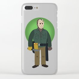 Jason Voorhees Friday the 13th Part 6 Clear iPhone Case