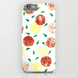 Lemon stamping pattern iPhone Case